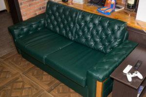 наши работы - перетяжка дивана и каретная стяжка